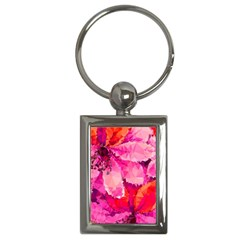 Geometric Magenta Garden Key Chains (Rectangle)