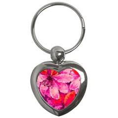 Geometric Magenta Garden Key Chains (Heart)