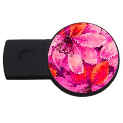 Geometric Magenta Garden Usb Flash Drive Round (2 Gb)  by DanaeStudio