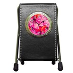 Geometric Magenta Garden Pen Holder Desk Clocks Front