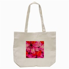 Geometric Magenta Garden Tote Bag (cream) by DanaeStudio