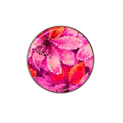 Geometric Magenta Garden Hat Clip Ball Marker (4 Pack) by DanaeStudio