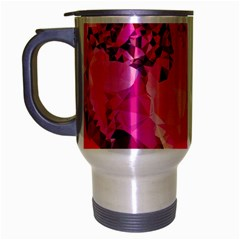 Geometric Magenta Garden Travel Mug (silver Gray) by DanaeStudio