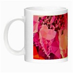 Geometric Magenta Garden Night Luminous Mugs Left