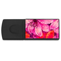 Geometric Magenta Garden USB Flash Drive Rectangular (4 GB)