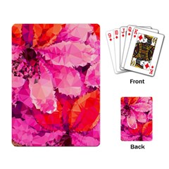 Geometric Magenta Garden Playing Card by DanaeStudio