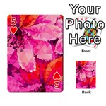 Geometric Magenta Garden Playing Cards 54 Designs  Front - Heart5