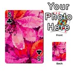 Geometric Magenta Garden Playing Cards 54 Designs  Front - Club5