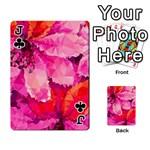 Geometric Magenta Garden Playing Cards 54 Designs  Front - ClubJ