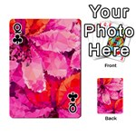 Geometric Magenta Garden Playing Cards 54 Designs  Front - ClubQ