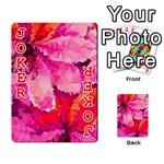 Geometric Magenta Garden Playing Cards 54 Designs  Front - Joker2