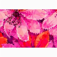 Geometric Magenta Garden Collage Prints