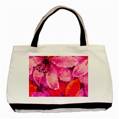 Geometric Magenta Garden Basic Tote Bag by DanaeStudio