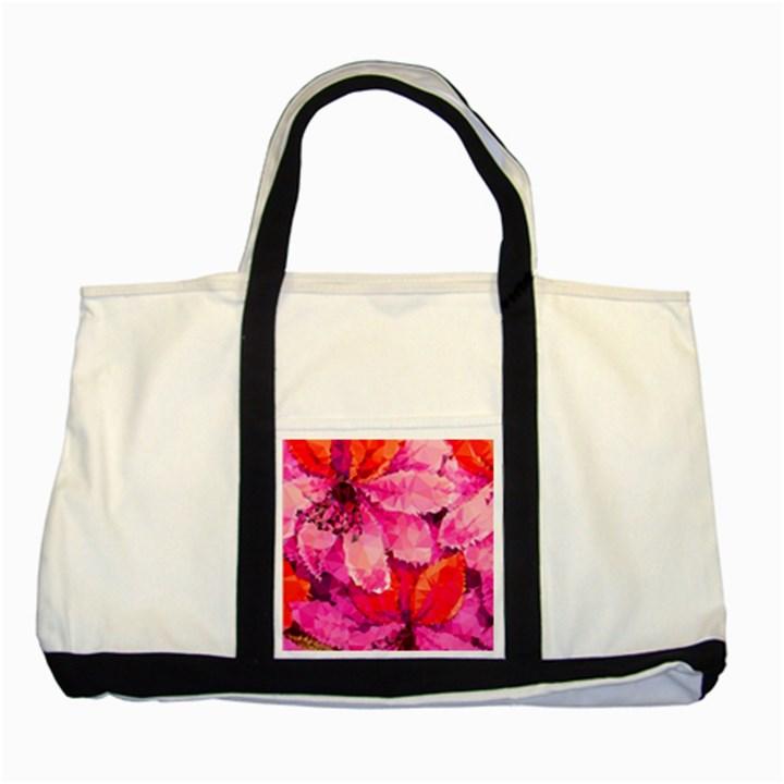 Geometric Magenta Garden Two Tone Tote Bag