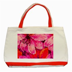 Geometric Magenta Garden Classic Tote Bag (red) by DanaeStudio