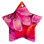 Geometric Magenta Garden Star Ornament (Two Sides)  Front