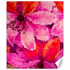 Geometric Magenta Garden Canvas 8  x 10