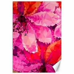 Geometric Magenta Garden Canvas 12  x 18