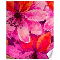 Geometric Magenta Garden Canvas 16  x 20
