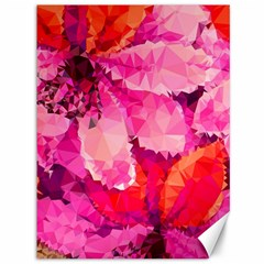 Geometric Magenta Garden Canvas 36  x 48