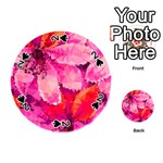 Geometric Magenta Garden Playing Cards 54 (Round)  Front - Spade2