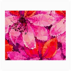 Geometric Magenta Garden Small Glasses Cloth (2 Side) by DanaeStudio