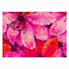 Geometric Magenta Garden Large Glasses Cloth (2 Side) by DanaeStudio