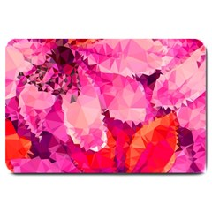 Geometric Magenta Garden Large Doormat  by DanaeStudio