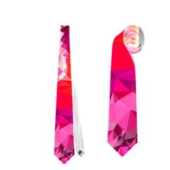 Geometric Magenta Garden Neckties (One Side)
