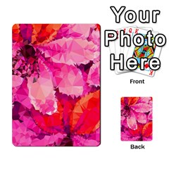 Geometric Magenta Garden Multi-purpose Cards (Rectangle)