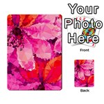 Geometric Magenta Garden Multi-purpose Cards (Rectangle)  Frontback