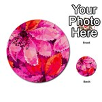 Geometric Magenta Garden Multi-purpose Cards (Round)  Back 2