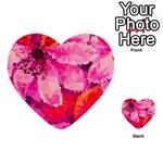Geometric Magenta Garden Multi-purpose Cards (Heart)  Back 54