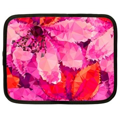 Geometric Magenta Garden Netbook Case (large) by DanaeStudio