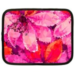 Geometric Magenta Garden Netbook Case (Large) Front