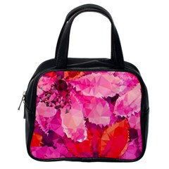 Geometric Magenta Garden Classic Handbags (one Side) by DanaeStudio