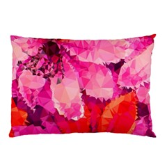 Geometric Magenta Garden Pillow Case