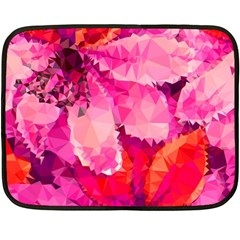Geometric Magenta Garden Fleece Blanket (mini) by DanaeStudio
