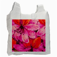 Geometric Magenta Garden Recycle Bag (one Side) by DanaeStudio
