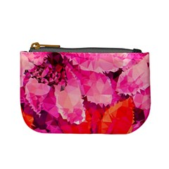 Geometric Magenta Garden Mini Coin Purses