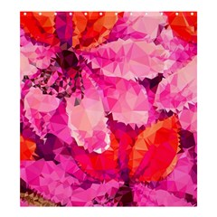 Geometric Magenta Garden Shower Curtain 66  X 72  (large)  by DanaeStudio