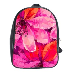 Geometric Magenta Garden School Bags(large)  by DanaeStudio