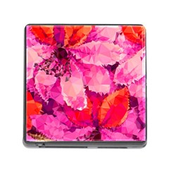 Geometric Magenta Garden Memory Card Reader (square) by DanaeStudio