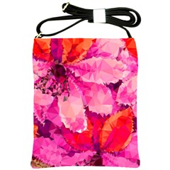Geometric Magenta Garden Shoulder Sling Bags by DanaeStudio