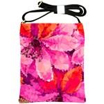 Geometric Magenta Garden Shoulder Sling Bags Front