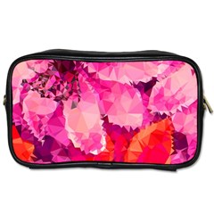 Geometric Magenta Garden Toiletries Bags by DanaeStudio