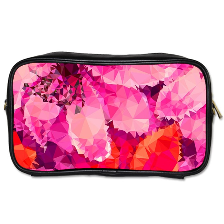 Geometric Magenta Garden Toiletries Bags