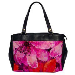 Geometric Magenta Garden Office Handbags