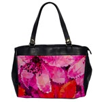 Geometric Magenta Garden Office Handbags Front