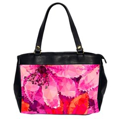 Geometric Magenta Garden Office Handbags (2 Sides)  by DanaeStudio